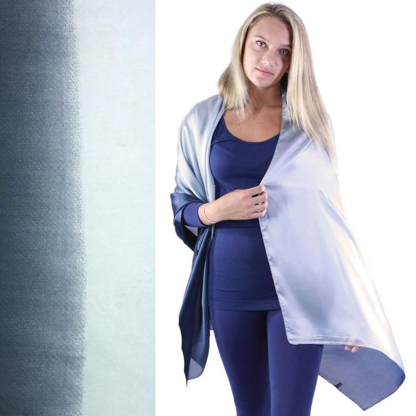 wholesale Shawls - Boutique Charmeuse #32 Ombre Navy-Light Grey -