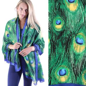 Shawls - Boutique Charmeuse #34 Peacock Green -