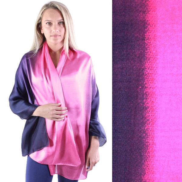 wholesale Shawls - Boutique Charmeuse #35 Ombre Navy-Pink -