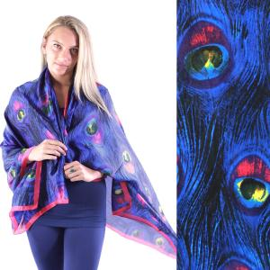 Shawls - Boutique Charmeuse #36 Peacock Feathers Blue -