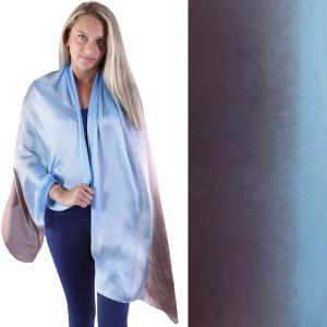 Shawls - Boutique Charmeuse #42 Ombre Light Blue-Brown -