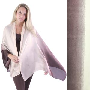 Shawls - Boutique Charmeuse #46 Ombre Beige-Chocolate -