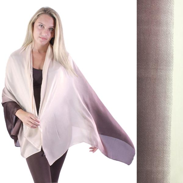 wholesale Shawls - Boutique Charmeuse #46 Ombre Beige-Chocolate -