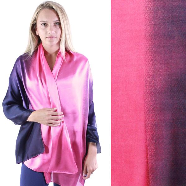 wholesale Shawls - Boutique Charmeuse #47 Ombre Navy-Wine -