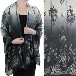 Shawls - Boutique Charmeuse #49 Victorian Black-White -