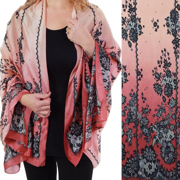 wholesale Shawls - Boutique Charmeuse #52 Victorian Coral -