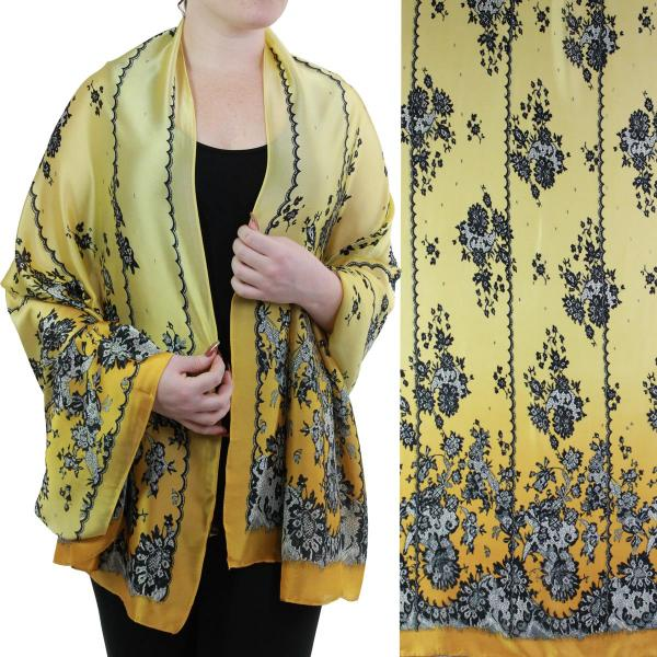 wholesale Shawls - Boutique Charmeuse #51 Victorian Yellow -