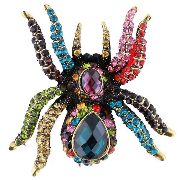 wholesale Magnetic Brooches - Artful Design - Plain Back 202 Multi Spider -