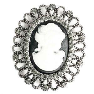 Magnetic Brooches - Artful Design - Plain Back 532 Cameo -