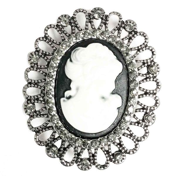 wholesale Magnetic Brooches - Artful Design - Plain Back 532 Cameo -