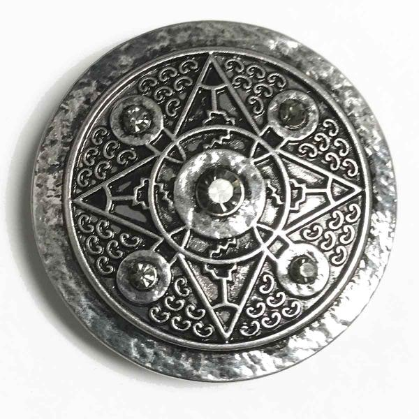 wholesale Magnetic Brooches - Artful Design - Plain Back 538 Silver Star of Bethlehem -