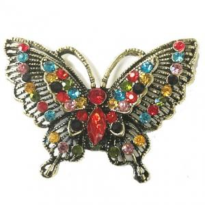 Magnetic Brooches - Artful Design - Plain Back #010 Multi Butterfly 501 -