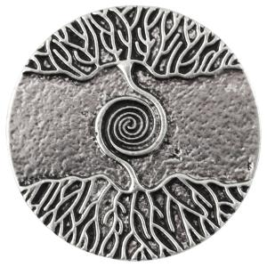 Magnetic Brooches - Artful Design - Plain Back 541 Silver Tree Swirl -