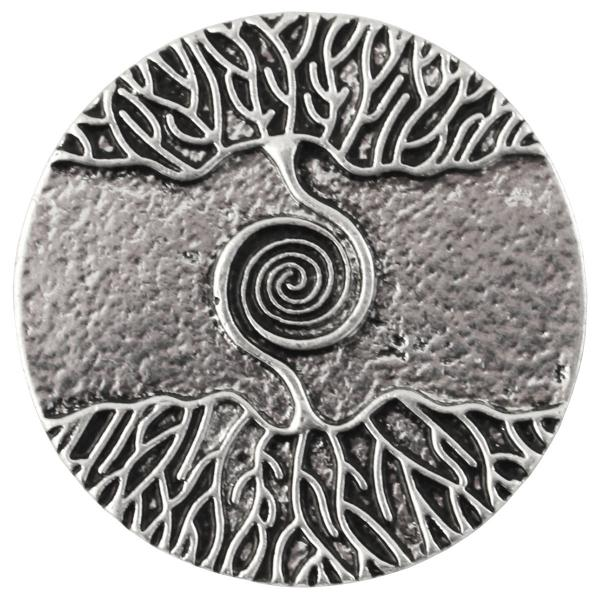 wholesale Magnetic Brooches - Artful Design - Plain Back 541 Silver Tree Swirl -