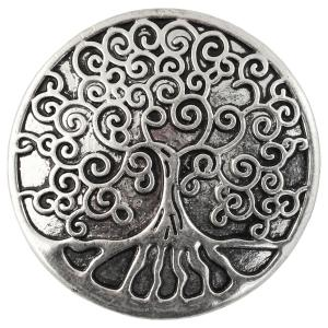 Magnetic Brooches - Artful Design - Plain Back 543 Silver Tree of Life -