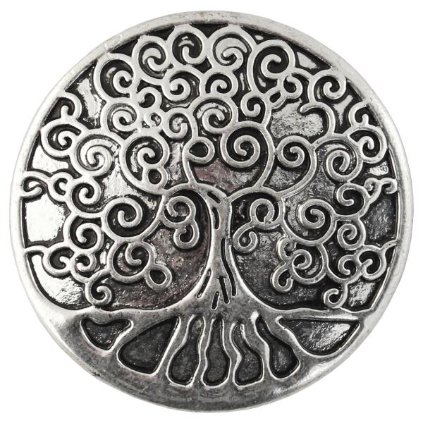wholesale Magnetic Brooches - Artful Design - Plain Back 543 Silver Tree of Life -