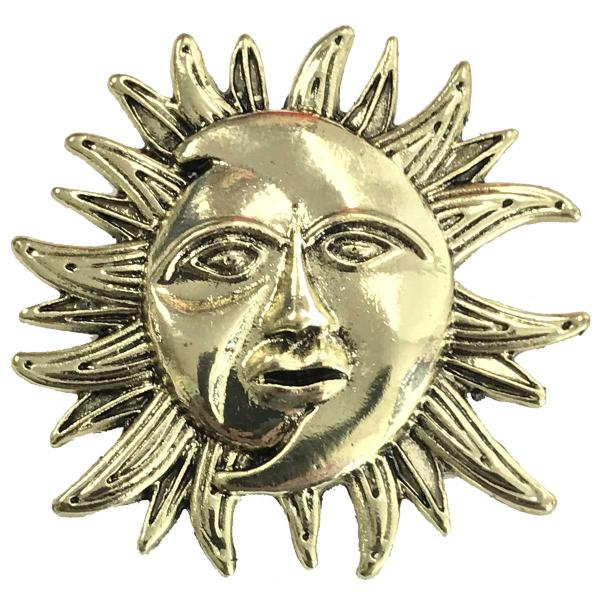 wholesale Magnetic Brooches - Artful Design - Plain Back 530 Bronze Sun/Moon -