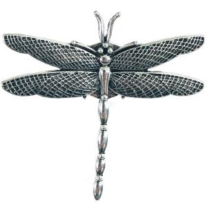 Magnetic Brooches - Artful Design - Plain Back 551 Silver Dragonfly -