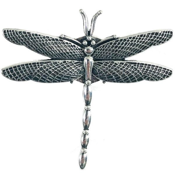 wholesale Magnetic Brooches - Artful Design - Plain Back 551 Silver Dragonfly -