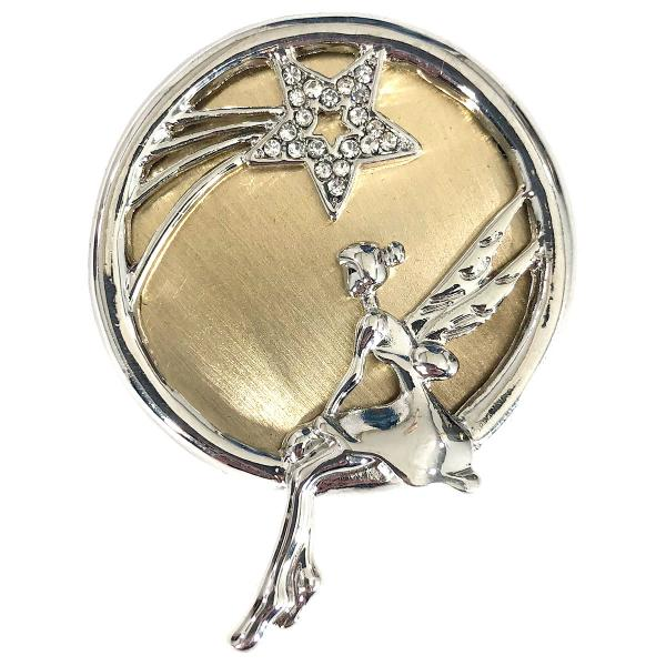 wholesale Magnetic Brooches - Artful Design - Plain Back 565 Silver-Gold Whimsical Fairy -