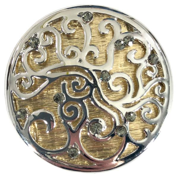 wholesale Magnetic Brooches - Artful Design - Plain Back 571 Silver-Gold Swirl Design  -