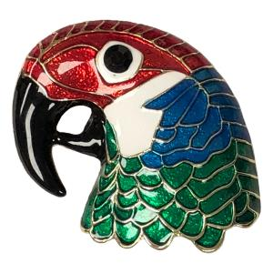 Magnetic Brooches - Artful Design - Plain Back 575 Multi Parrot -
