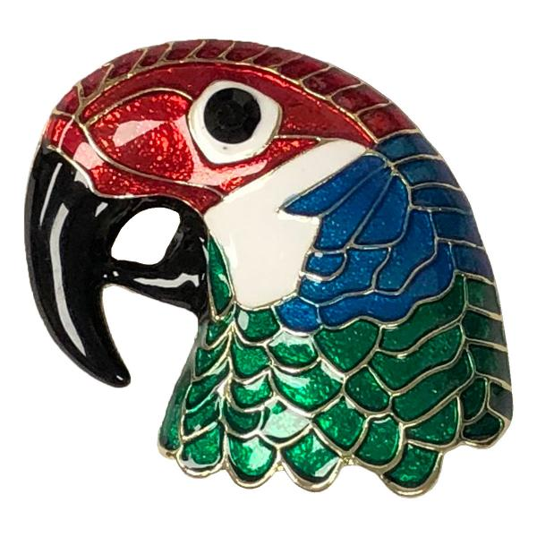 wholesale Magnetic Brooches - Artful Design - Plain Back 575 Multi Parrot -