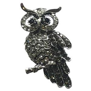 Wholesale  #008 Owl on a Branch Magnetic Brooch -