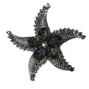 Wholesale  #613 Starfish with Flower Magnetic Brooch - 2