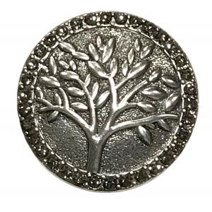 Wholesale  #593 Tree with Hematite Circle Magnetic Brooch - 2