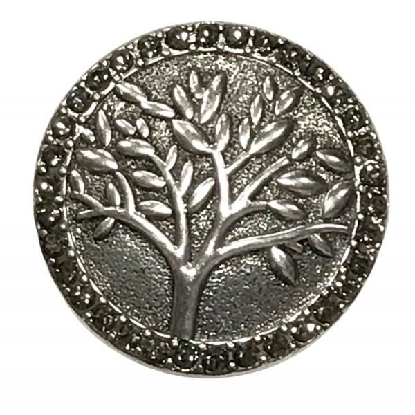 wholesale Magnetic Brooches - Artful Design - Plain Back #593 Tree with Hematite Circle Magnetic Brooch - 2