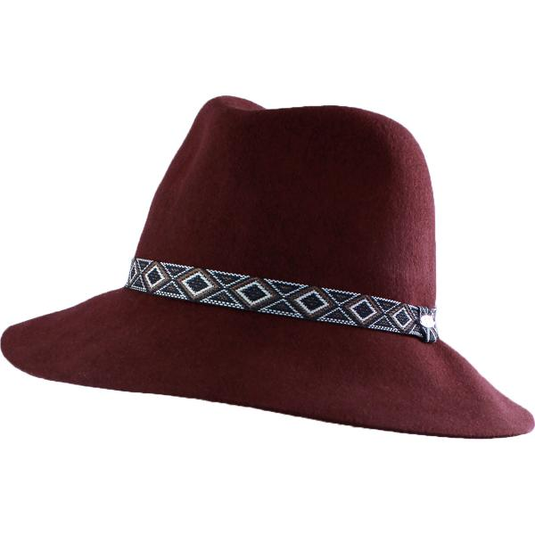 wholesale Hats - 100 Percent Wool w/ Brim FW08 - Burgundy Safari -