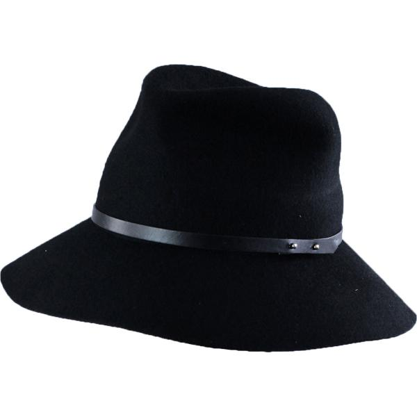 wholesale Hats - 100 Percent Wool w/ Brim FW19 - Black Safari -