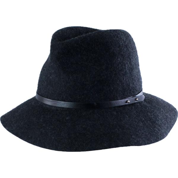 wholesale Hats - 100 Percent Wool w/ Brim FW19 - Charcoal Safari -