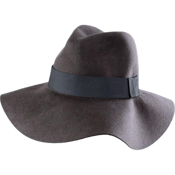 wholesale Hats - 100 Percent Wool w/ Brim A076 - Grey Floppy -