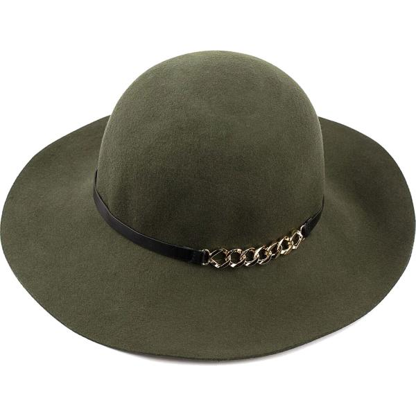 wholesale Hats - 100 Percent Wool w/ Brim FW40 - Bowler Moss -