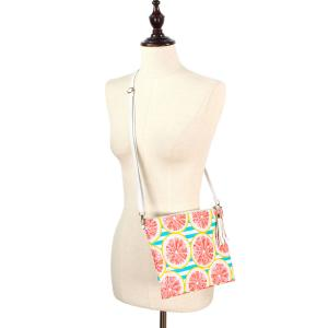 Crossbody Bags & Matching Wristlets Crossbody Bag - 9301 Grapefruit Print -