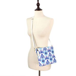 Crossbody Bags & Matching Wristlets Crossbody Bag - 9305 Ikat Print Blue -