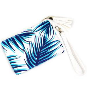 Crossbody Bags & Matching Wristlets Wristlet - 9302 Palm Tree Print Navy -