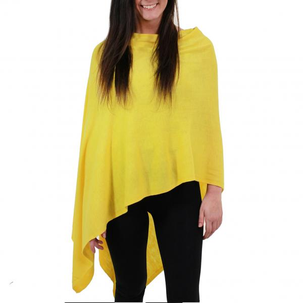 wholesale Poncho - Solid Cashmere Feel 8672 Yellow -