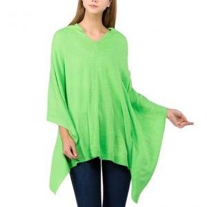 Wholesale  KELLY GREEN Poncho - Solid Cashmere Feel 8672 -