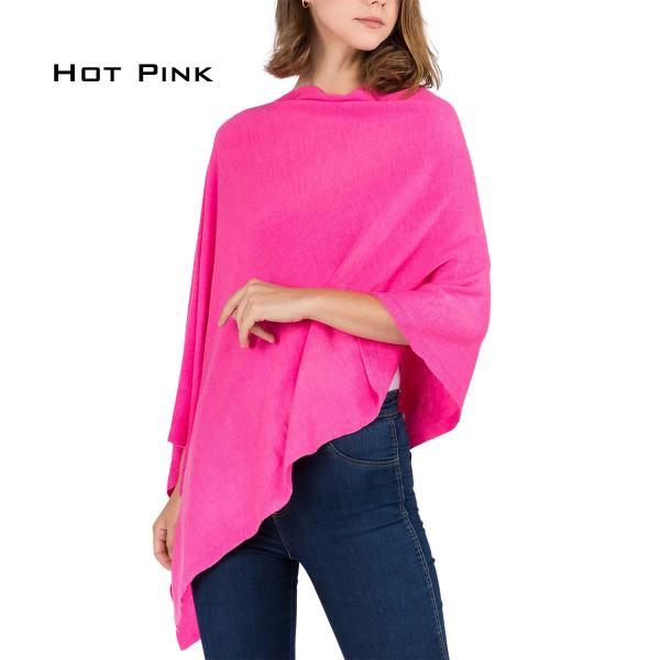 wholesale Poncho - Solid Cashmere Feel 8672 HOT PINK Cashmere Feel Poncho 8672 -