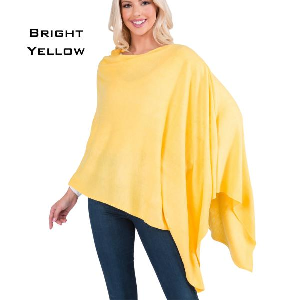 wholesale Poncho - Solid Cashmere Feel 8672 BRIGHT YELLOW Cashmere Feel Poncho 8672 -