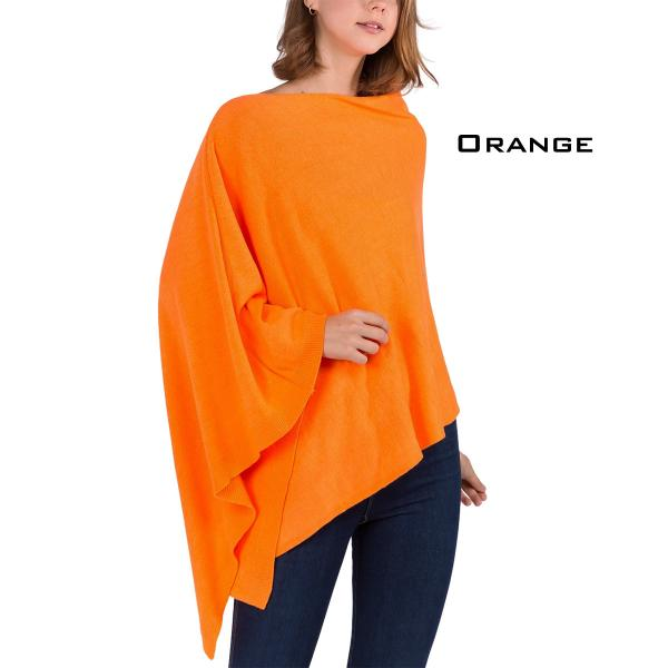 wholesale Poncho - Solid Cashmere Feel 8672 ORANGE Cashmere Feel Poncho 8672 -
