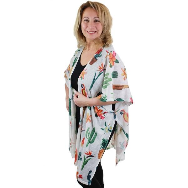 wholesale Kimono - Tropical Designs 9611 Parrots & Pineapples* -