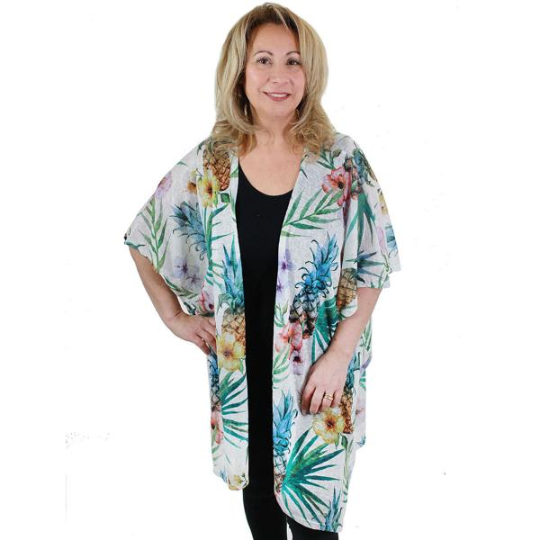 wholesale Kimono - Tropical Designs 9611 Pineapples* -