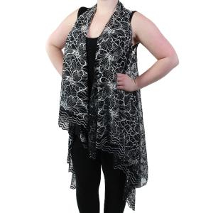 Vests - Lace Two Tone 9101 Black -