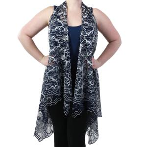 Vests - Lace Two Tone 9101 Blue -