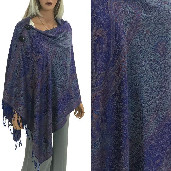 wholesale Pashmina Style Shawls with Buttons Large Paisley #16* -