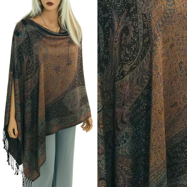wholesale Pashmina Style Shawls with Buttons Large Paisley #22 -